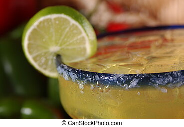 Happy Hour Margarita close up - Close up of a refreshingly...