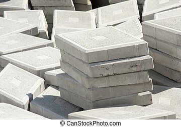 Pavement - paving slabs close up as background