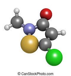 Methylchloroisothiazolinone preservative molecule, chemical...