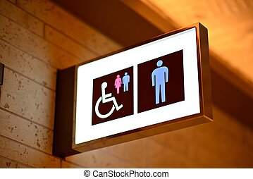 Bathroom Sign - Sign for bathrooms