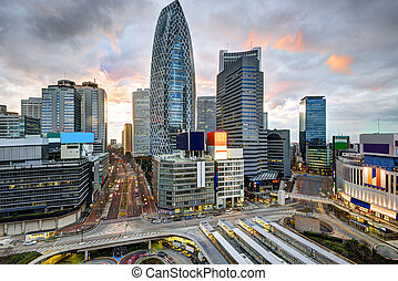 Tokyo at Shinjuku - Shinjuku Ward skyline in Tokyo, Japan