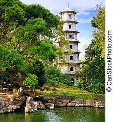 Okinawa Garden - Fukushen Garden in Naha, Okinawa, Japan.