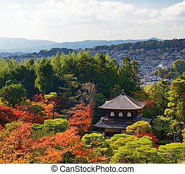 Ginkaku-ji Temple in Kyoto, Japan during the fall season nov...