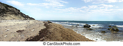 Block Island RI Shoreline - View of the dunes and coast...