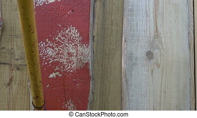 decorating wooden  house wall