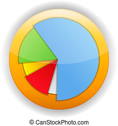 Pie Chart Icon - Pie chart icon, vector eps10 illustration