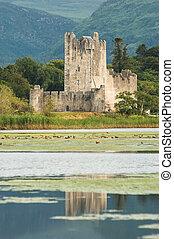 Ross castle killarney reflection - Medieval Ross castle in...