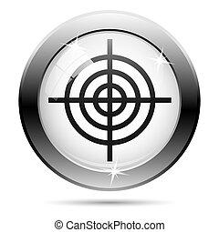 Black and white icon - Metallic icon with black design on...