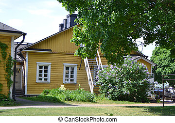 Old building in Lappeenranta, Finland - View of old wooden...