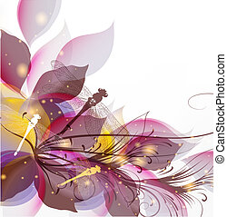 Abstract art vector colorful background - Spring abstract...