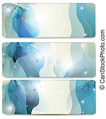 Abstract vector blue backgrounds se
