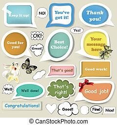 Collection of speech baubles or ban - Set of vector speech...