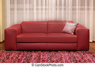 Burgundy couch