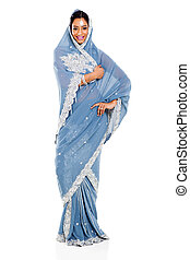 indian woman in sari - attractive indian woman in sari...