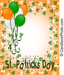 St Patricks day Balloons Border - Illustration for St...