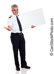 airline pilot advertising - cheerful airline pilot...
