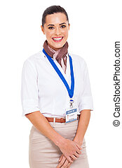 young flight attendant