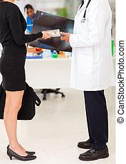 médico, Representante, Sobornar, doctor