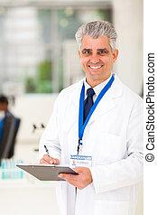 senior scientist in lab