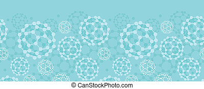 Buckyballs horizontal seamless pattern background border -...