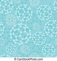 Buckyballs seamless pattern background