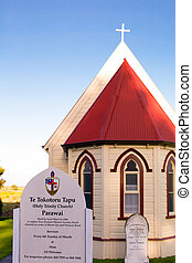 New Zealand church. - The Te Tokotoru Tapu (Holy Trinity...
