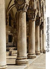 Gothic Stone Pillars