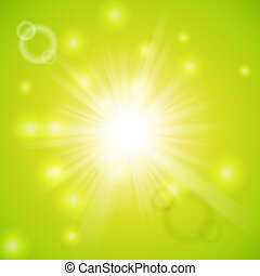 Abstract magic light green background - Abstract magic light...