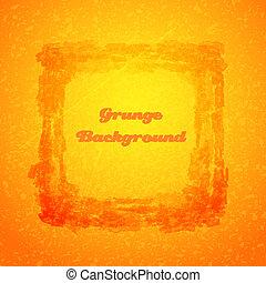 Grunge orange texture frame