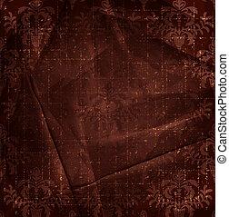 Vintage red brown floral background