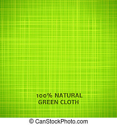 Green cloth texture background. Vector illustration for your...