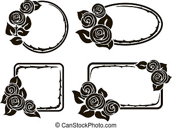 Frames with roses