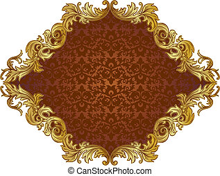 ornate frame 1 - ornate frame with brown insert in the...
