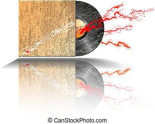 old disc - illustration of old disc