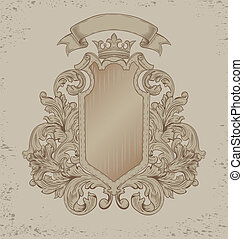 vintage emblem  on a brown background