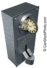 Time Is Money Vintage Coin Slot