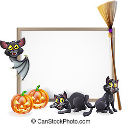 Halloween sign background - A Halloween background sign with...