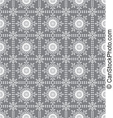 Floral seamless silver wallpaper