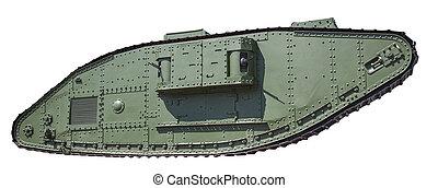 retro tank isolated