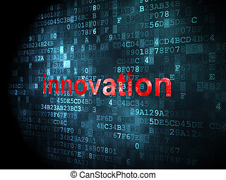 Business concept: Innovation on digital background -...