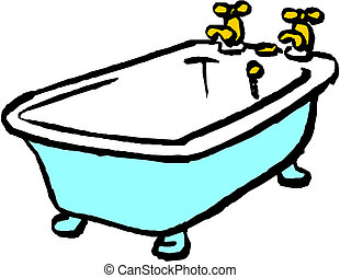 Bath. Vector illustration on white background