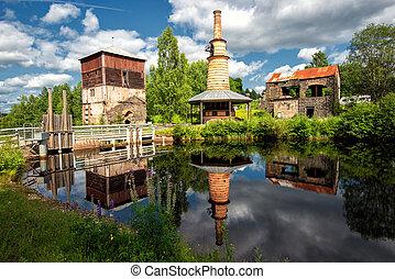 Abandoned ironworks - Abandoned old ironworks in Ulvshyttan,...