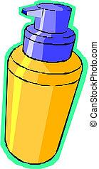 illustration of shaving cream - Vector illustration of...