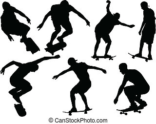 skateboard - vector - illustration of skateboard - vector