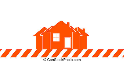 construction background with house