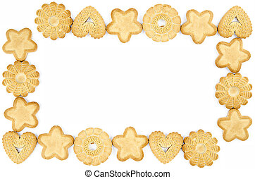 Frame made of biscuits