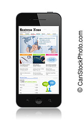Business media on modern smartphone - High quality...