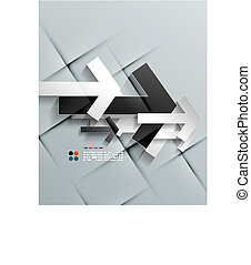 Vector arrows paper modern design