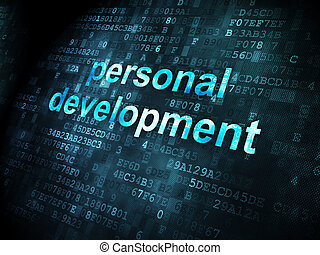 Education concept: Personal Development on digital...