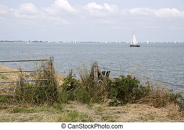 View on Markermeer in Holland - Beatiifull view on the...